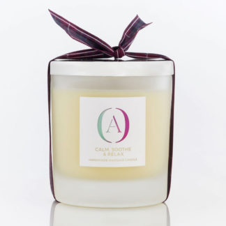 Auryanna Organic Skincare handmade massage candle calm sooth relax